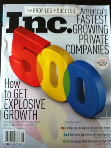 Cover of Inc. Magazine.