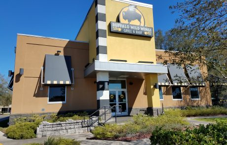 Buffalo Wild Wings building exterior.
