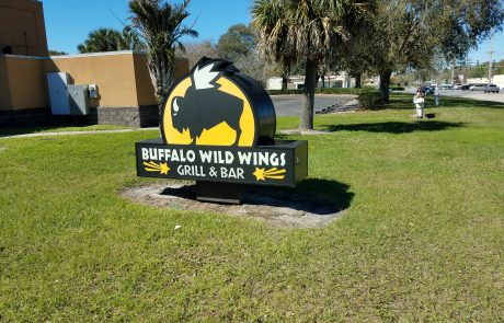 Buffalo Wild Wings sign.