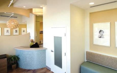 Surfside Dental Facility reception area.