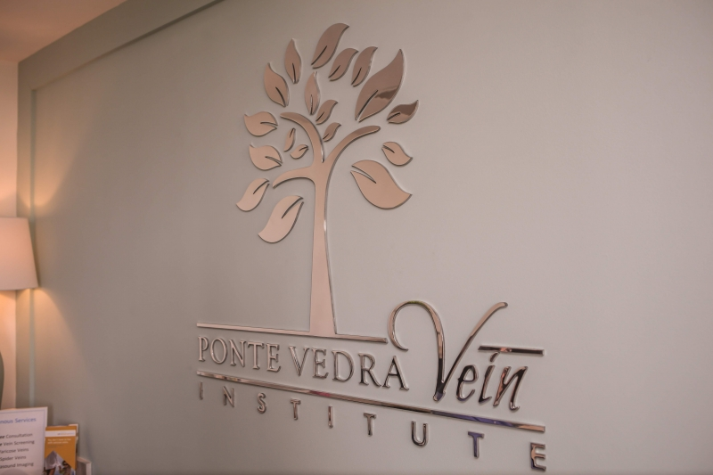Ponte Vedra Vein Institute lobby artwork.