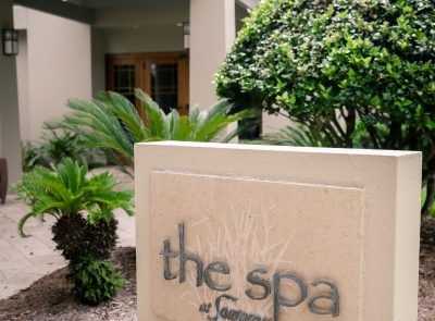 Marriott Sawgrass Spa entrance sign.